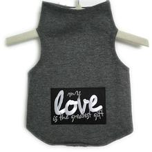 Daisy & Lucy My Love Is The Greatest Gift Dog Tank - Heather Gray