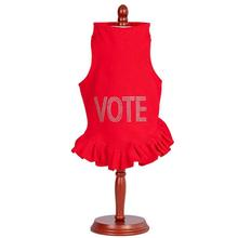 Daisy & Lucy Vote Dog Dress - Red