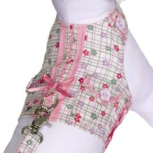 Daisy Paws Checkered Dog Harness Vest with Leash by Cha-Cha Couture