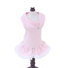 Daisy Trio Ruffle Dog Dress By Hello Doggie - Pink