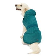 Dakota Faux Suede Dog Jacket - Teal