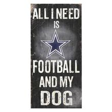 Dallas Cowboys Football and My Dog Wood Sign
