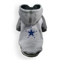Dallas Cowboys NFL Dog Hoodie - Gray