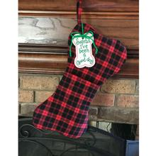 Dallas Dogs Bone Christmas Stocking - Santa I've Been Good