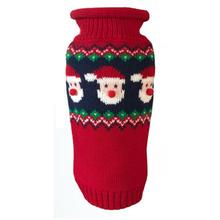 Dallas Dogs Fair Isle Santa Faces Dog Sweater