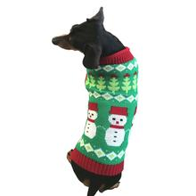 Dallas Dogs Fair Isle Snowmen Dog Sweater