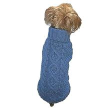 Dallas Dogs Irish Knit Dog Sweater - Blue