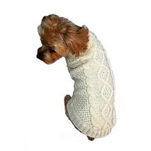 Dallas Dogs Irish Knit Dog Sweater - Cream