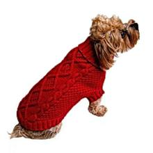 Dallas Dogs Irish Knit Dog Sweater - Red