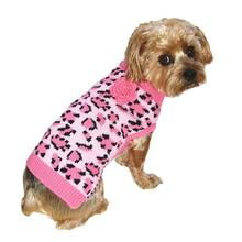 Dallas Dogs Lovin' Leopard Dog Sweater - Pink