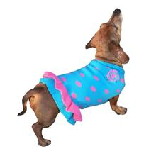 Dallas Dogs Polka Dot Dog Sweater Dress - Turquoise and Pink