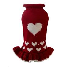 Dallas Dogs Red Heart Sweater Dog Dress