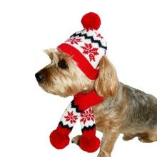 Dallas Dogs Snowflake Dog Hat and Scarf