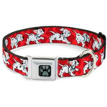 Dalmatians Seatbelt Buckle Dog Collar by Buckle-Down - Red