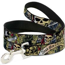 Dead Men Tell No Tales Dog Leash by Buckle-Down - Tan
