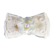 Debbie Dog Bow By Pinkaholic - Ivory