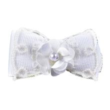 Debbie Dog Bow By Pinkaholic - White