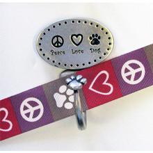 Decorative Leash Hook - Peace Love Dog