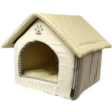 Parisian Pet Almond Plush Dog House - Khaki