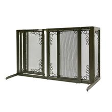 Deluxe Freestanding Mesh Dog Gate