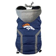 Denver Broncos Dog Puffer Vest