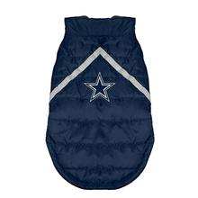Dallas Cowboys Sleeveless Dog Puffer Vest