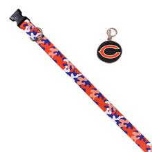 Chicago Bears Team Camo Dog Collar and Tag by Yellow Dog