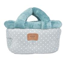 Desarae Basket Dog Bed By Pinkaholic - Blue Grey