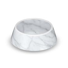 Carrara Marble Dog Bowl by TarHong