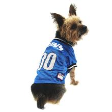 Detroit Lions Officially Licensed Dog Jersey - Black and White Trim