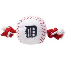 Detroit Tigers Nylon Plush Baseball Rope Dog Toy