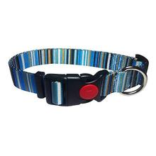 Multi-Stripes Dog Collar - Blue