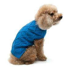 Diamond Knit Dog Sweater by Dogo - Blue