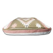 Diamante Rectangulo Dog Bed by Salvage Maria - Tan/Pink