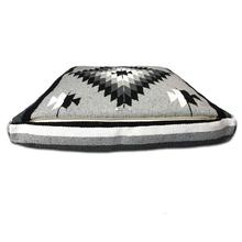Diamonte Rectangulo Dog Bed by Salvage Maria - Grey/Black