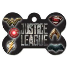 Large Bone Engravable Pet I.D. Tag - Justice League