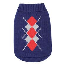 Dobaz Argyle Dog Sweater - Navy