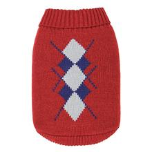 Dobaz Argyle Dog Sweater - Red
