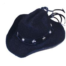 Dog Cowboy Hat - Black Felt