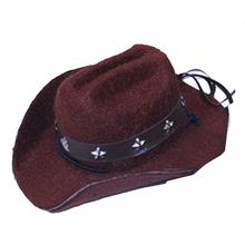 Dog Cowboy Hat - Brown Felt