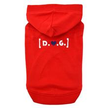 D.O.G. Dog Hoodie by Puppia - Red