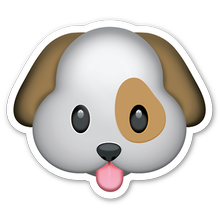 Dog Emoji Car Window Decal