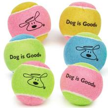 Dog is Good Tennis Balls Dog Toy - 6 Pack