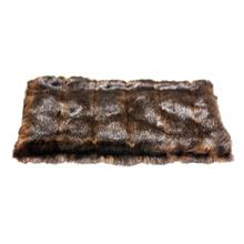 Luxury Faux Fur Crate Liner by The Dog Squad - Brown Mink