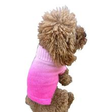 The Dog Squad Newport Sunset Dog Sweater - Pink Dip Dye