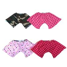 The Dog Squad Reversible Board Dog Shorts - Fuchsia Red Dot/Pink Ombre Hibiscus