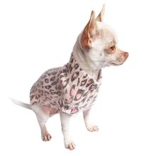 The Dog Squad Animal Instincts Mock Turtleneck Dog Sweater - Pink Leopard