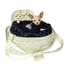 The Dog Squad's Brit Quilted Dog Carrier - Ivory