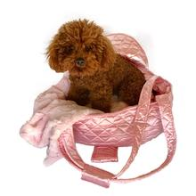 The Dog Squad Brit Quilted Dog Carrier - Pink