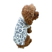 The Dog Squad's Superstar Leopard Dog Sweater - Gray on Ivory